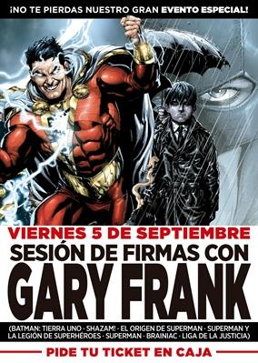 En septiembre, Gary Frank visitará Barcelona