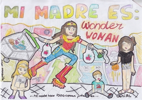 Ganadores del concurso ECC - FNAC ¡Mi madre es Wonder Woman!