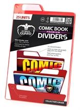 Separadores para cómics Premium Rojo (25 unidades)