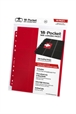 Hojas para archivador (10 unidades) 18-Pocket Side-Loading Rojo