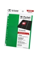 Hojas para archivador (10 unidades) 18-Pocket Side-Loading Verde