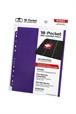 Hojas para archivador (10 unidades) 18-Pocket Side-Loading Violeta