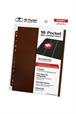 Hojas para archivador (10 unidades) 18-Pocket Side-Loading Marrón
