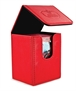 Flip Deck Case Leatherette 100+ Rojo