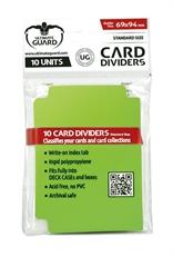Tarjetas Separadoras Verde Claro (10 unidades)