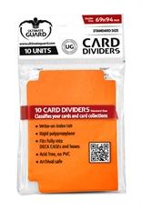 Tarjetas Separadoras Naranja (10 unidades)