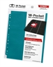 Hojas para archivador (10 unidades) 18-Pocket Side-Loading Azul Gasolina