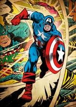 Displate - MARVEL / Silver Age 01 - Capitán America