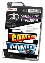 Separadores para cómics Premium Negro (25 unidades)