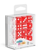 Oakie Doakie - Dados D6 Translúcidos - Rojo (16mm