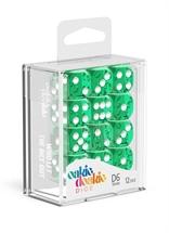 Oakie Doakie - Dados D6 Translúcidos - Verde (16mm)
