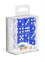 Oakie Doakie - Dados D6 Translúcidos - Azul (16mm)