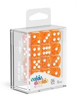 Oakie Doakie - Dados D6 Translúcidos - Naranja (16mm)